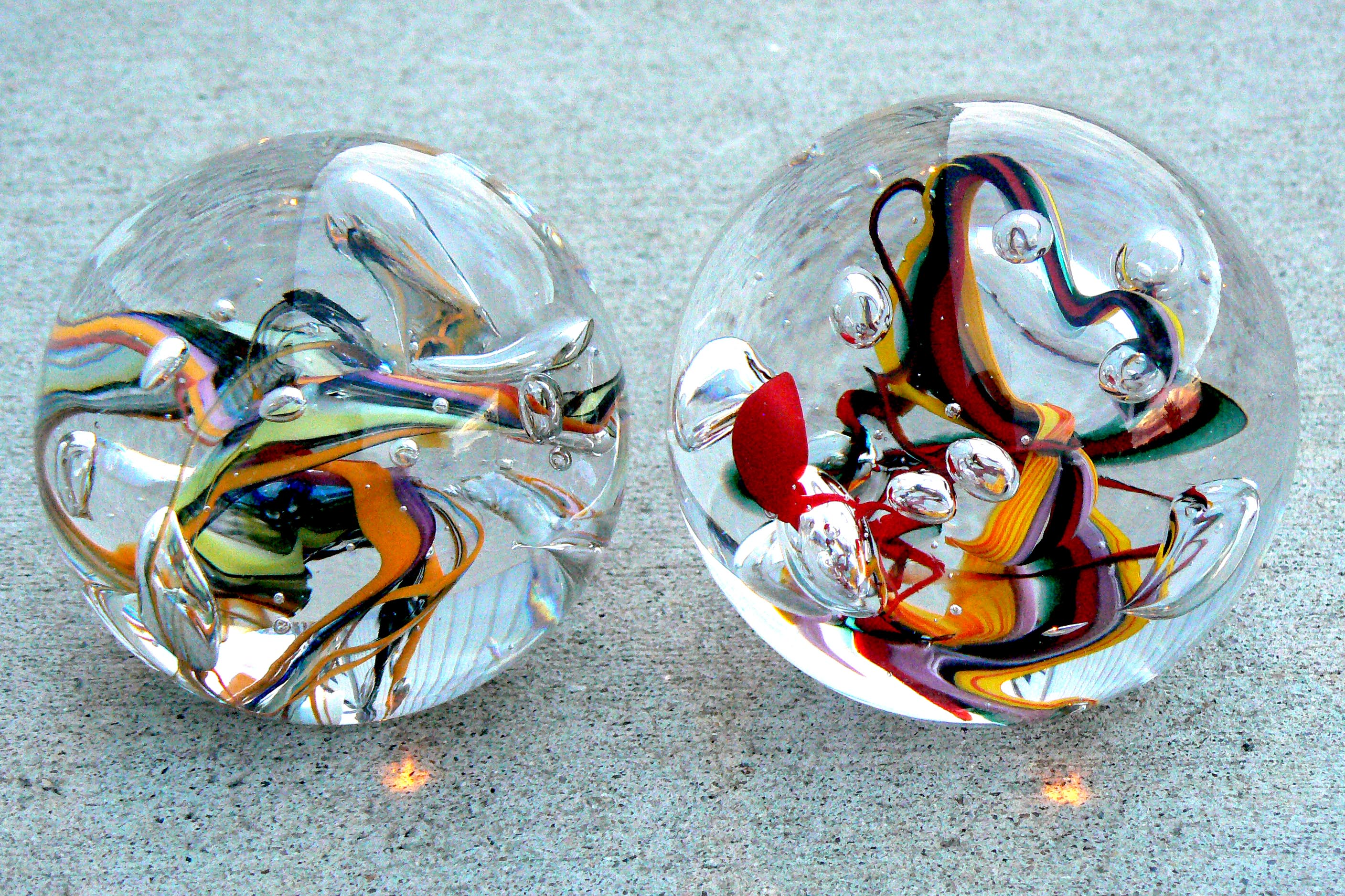 abstract paperweights