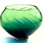 blue green bubble bowl