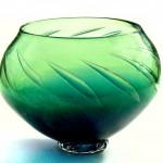 blue green bubble bowl