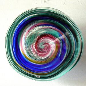 blue rainbow bowl or platter