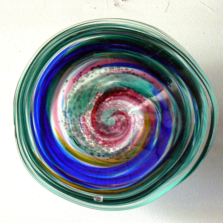 blue rainbow bowl or platter