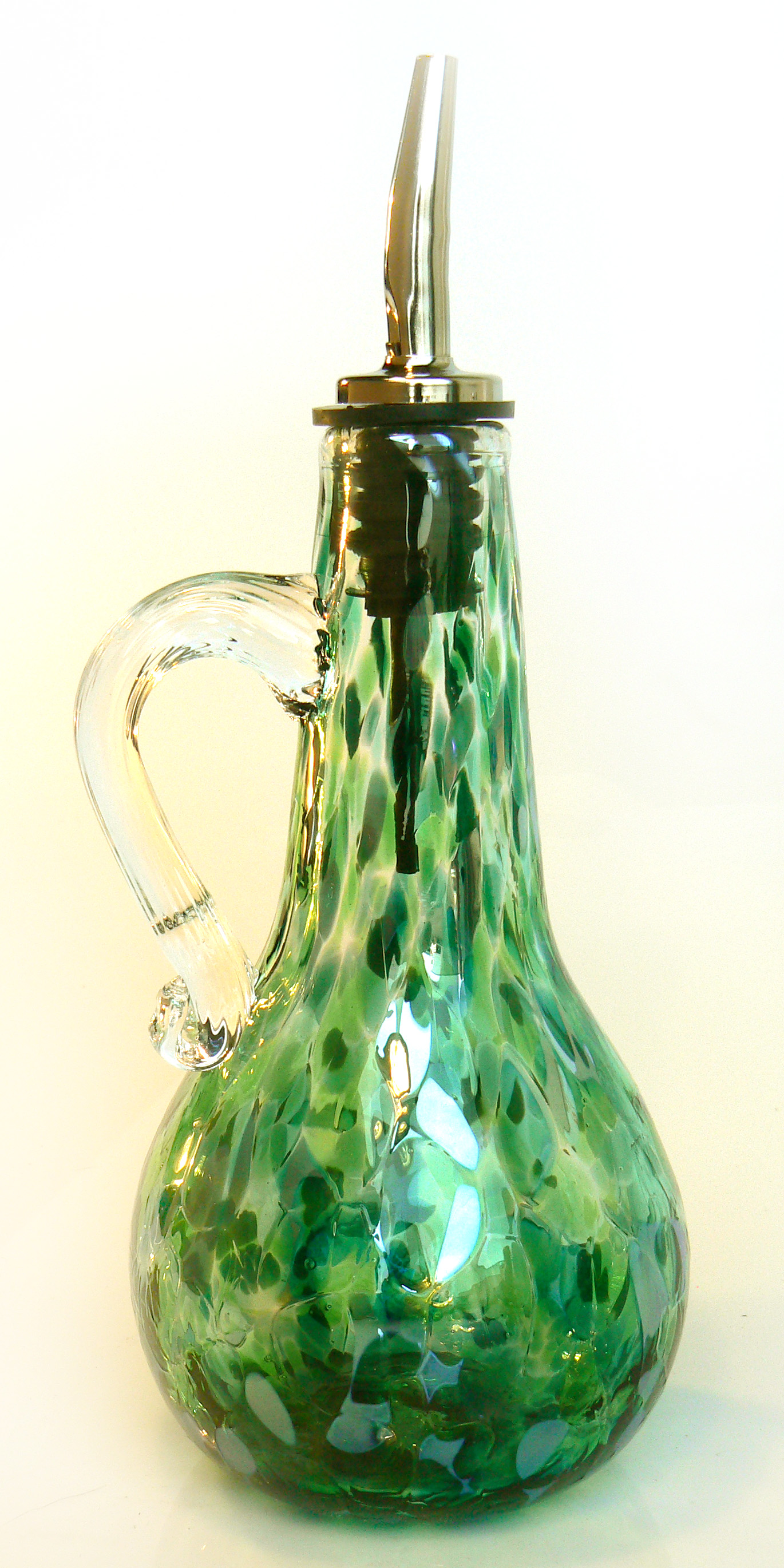 green oil bottle