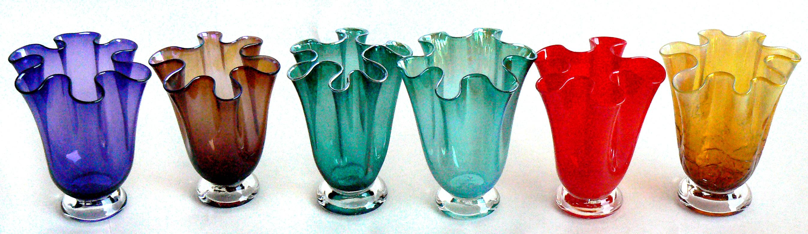 handkerchief vases