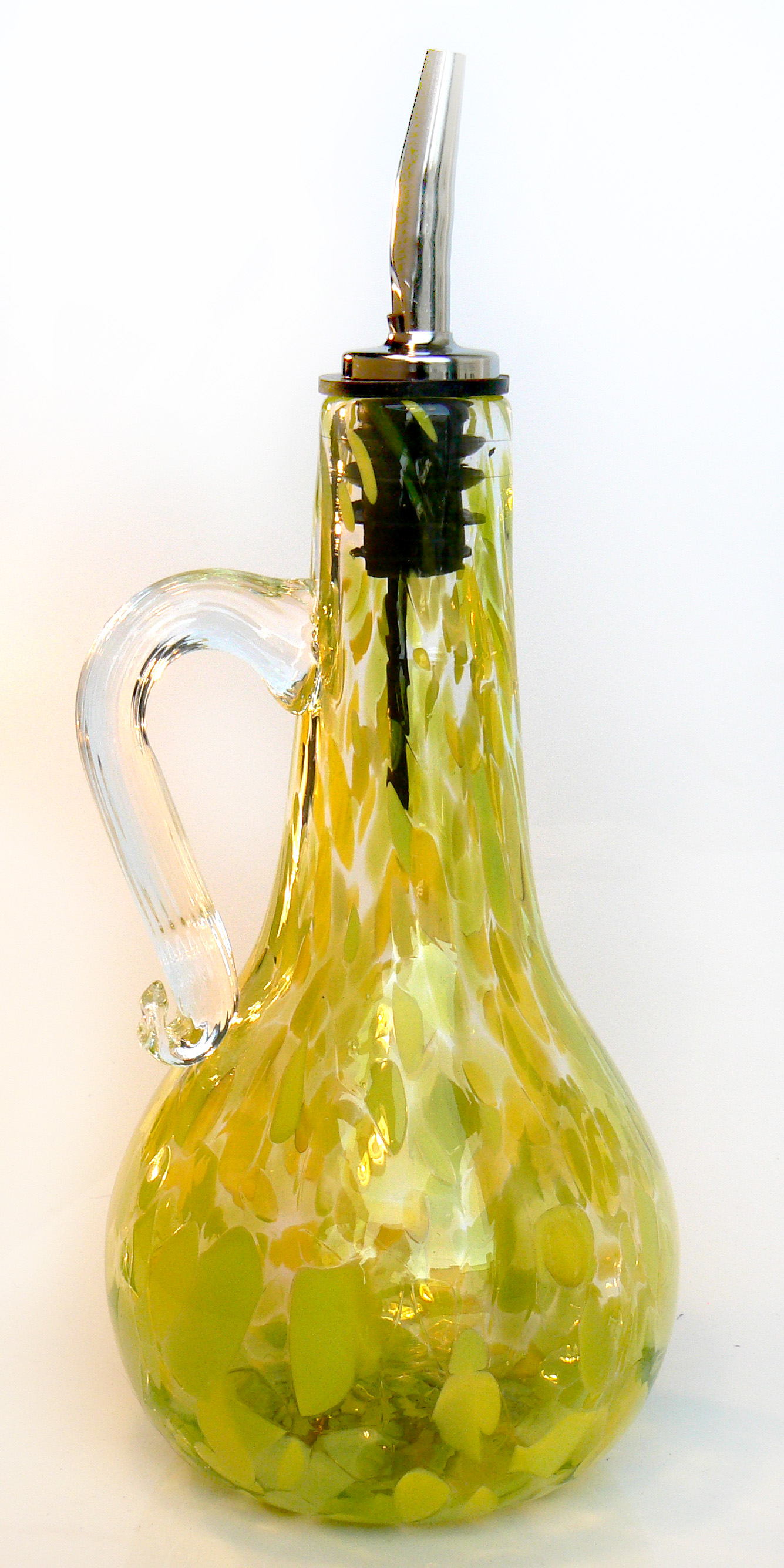 lime green oil bottle