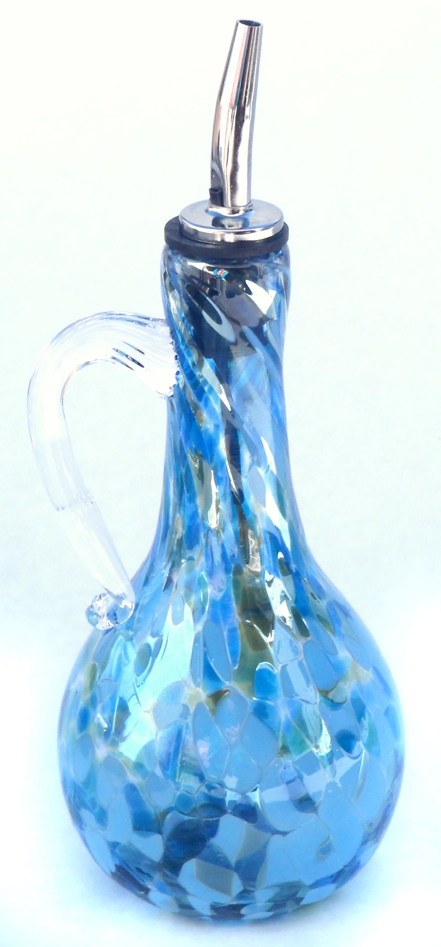 lt blue oil bottle