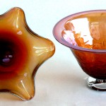metallic red bowls small
