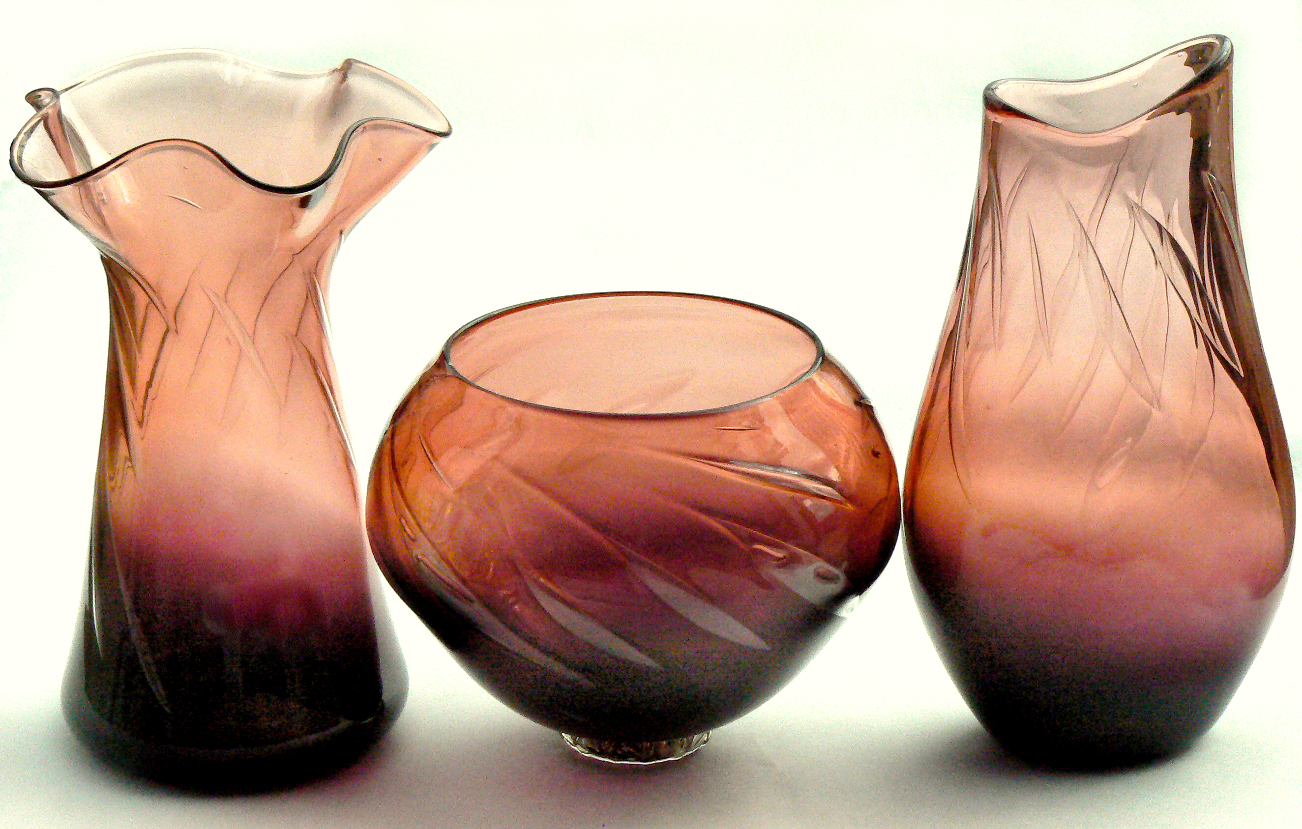 pink and purple bubble vessels