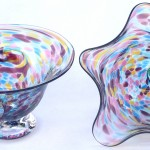 purple blue yellow speckle vessel