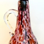 red oil bottles