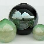 silver leaf globes