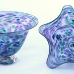 blue purple bowls